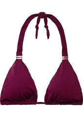 Vix Paula Hermanny Woman Bia Tube Triangle Bikini Top Burgundy