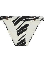 Vix Paula Hermanny Woman Blanca Bia Striped Low-rise Bikini Briefs Black