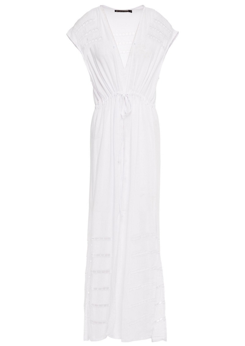 Vix Paula Hermanny Woman Broderie Anglaise Voile Coverup White