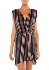 Vix Paula Hermanny Woman Isabela Gisele Striped Voile Coverup Midnight Blue