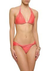 Vix Paula Hermanny Woman Knotted Mid-rise Bikini Briefs Peach