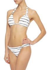 Vix Paula Hermanny Woman Lee Bia Printed Low-rise Bikini Briefs White