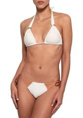 Vix Paula Hermanny Woman Loop Two-tone Low-rise Bikini Briefs Ivory