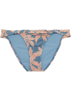 Vix Paula Hermanny Woman Margarita Bia Knotted Printed Low-rise Bikini Briefs Light Blue