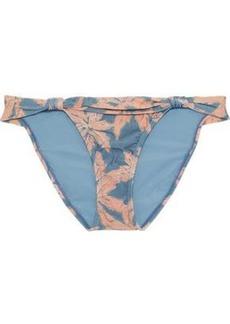 Vix Paula Hermanny Woman Margarita Bia Knotted Printed Low-rise Bikini Briefs Light Blue