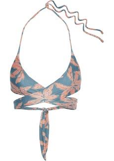 Vix Paula Hermanny Woman Margarita Printed Wrap Bikini Top Multicolor
