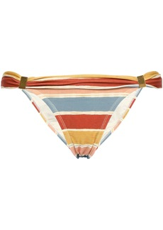 Vix Paula Hermanny Woman Margarita Striped Bikini Briefs Peach