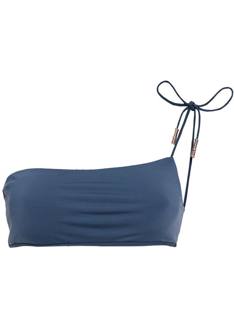 Vix Paula Hermanny Woman One-shoulder Bikini Top Storm Blue