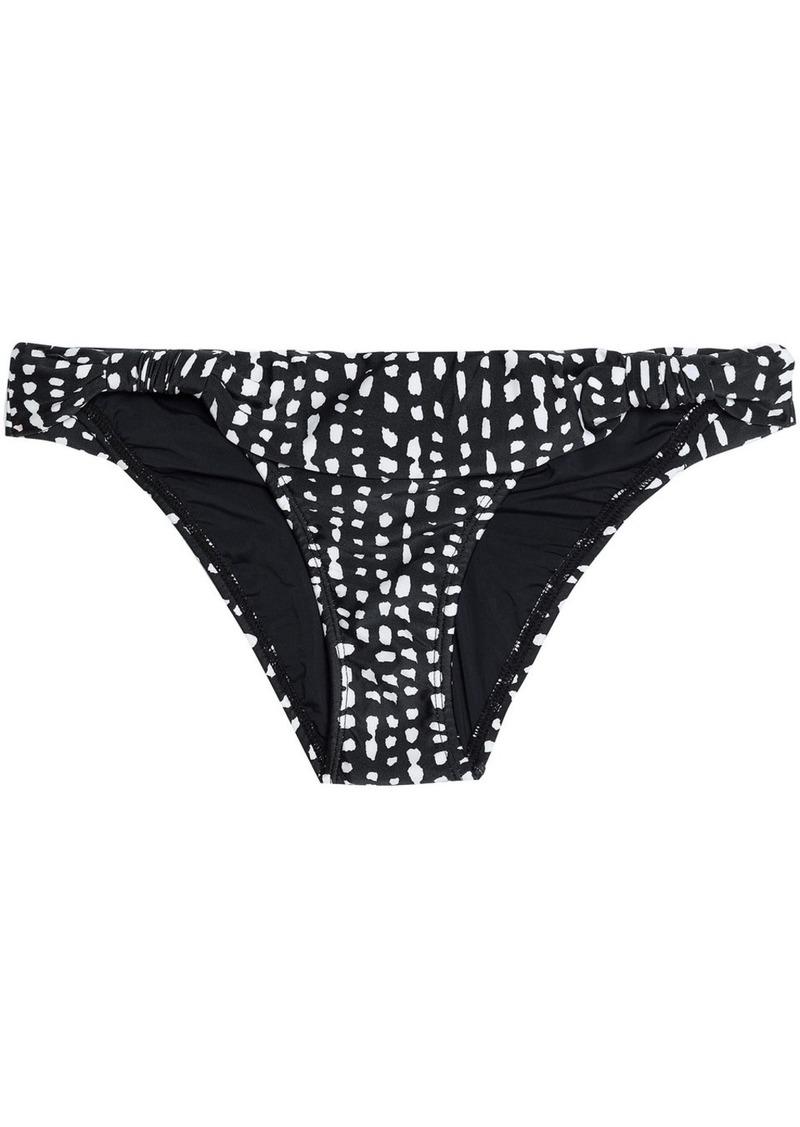 Vix Paula Hermanny Woman Printed Low-rise Bikini Briefs Black