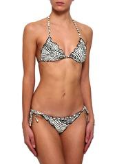 Vix Paula Hermanny Woman Printed Low-rise Bikini Briefs Off-white