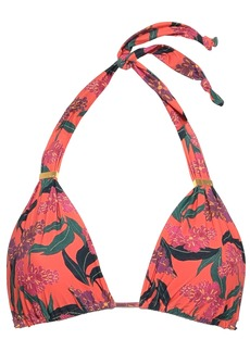 Vix Paula Hermanny Woman Printed Triangle Bikini Top Bright Orange