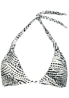 Vix Paula Hermanny Woman Printed Triangle Bikini Top Off-white