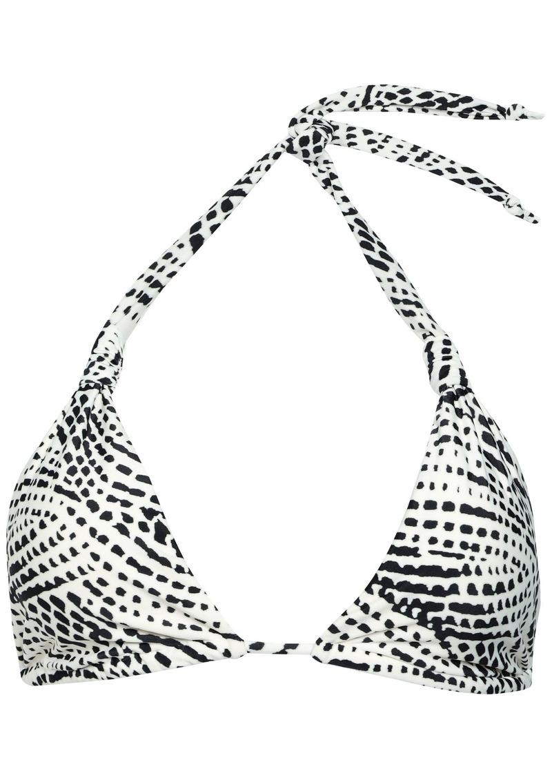 Vix Paula Hermanny Woman Printed Triangle Bikini Top Off-white