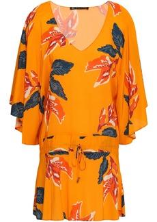 Vix Paula Hermanny Woman Tulum Floral-print Voile Tunic Marigold