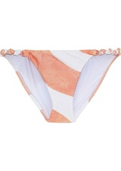 Vix Paula Hermanny Woman Rope Knotted Striped Low-rise Bikini Briefs White