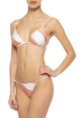 Vix Paula Hermanny Woman Rope Knotted Striped Low-rise Bikini Briefs White