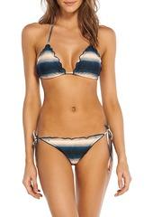 Vix Paula Hermanny Woman Ruffle-trimmed Printed Low-rise Bikini Briefs Petrol
