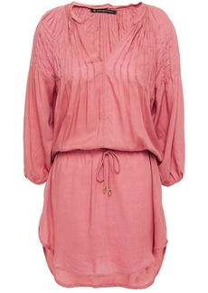 Vix Paula Hermanny Woman Sara Pintucked Modal Coverup Antique Rose