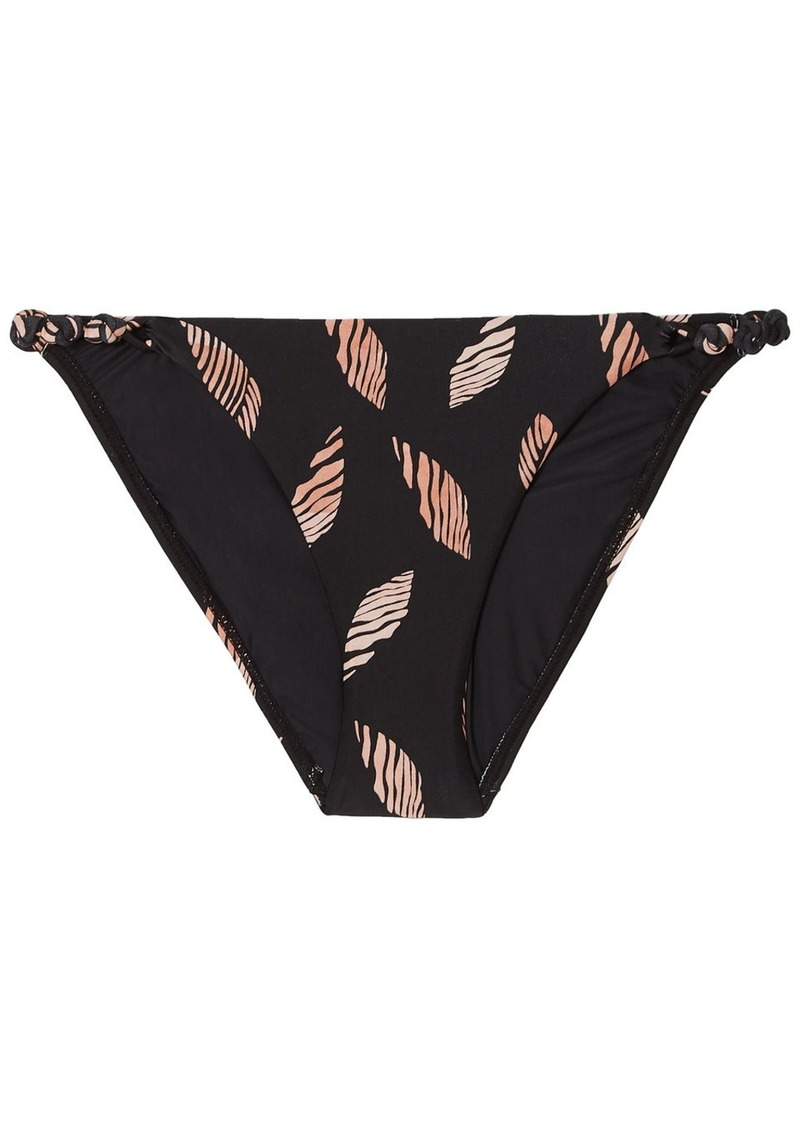 Vix Paula Hermanny Woman Seychelles Rope Printed Low-rise Bikini Briefs Black