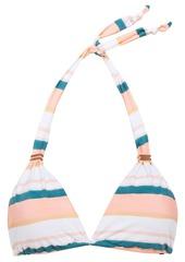 Vix Paula Hermanny Woman Striped Halterneck Bikini Top Peach