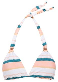 Vix Paula Hermanny Woman Striped Halterneck Bikini Top Peach
