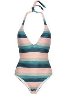 Vix Paula Hermanny Woman Striped Halterneck Swimsuit Multicolor