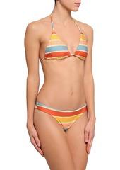 Vix Paula Hermanny Woman Striped Low-rise Bikini Briefs Multicolor