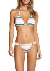 Vix Paula Hermanny Woman Striped Low-rise Bikini Briefs Peach
