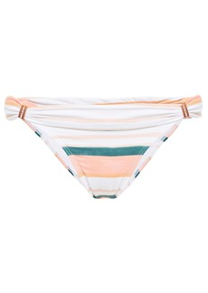 Vix Paula Hermanny Woman Striped Low-rise Bikini Briefs Peach