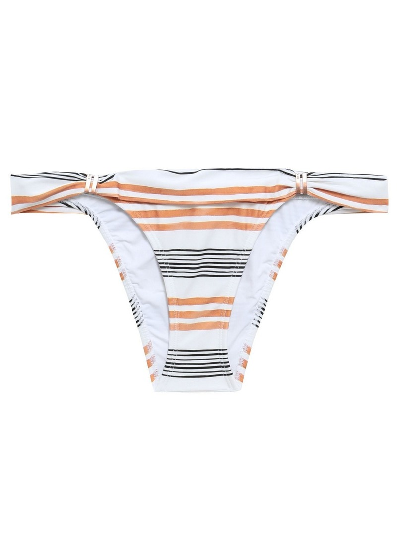 Vix Paula Hermanny Woman Striped Low-rise Bikini Briefs White