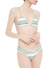 Vix Paula Hermanny Woman Striped Low-rise Bikini Briefs White