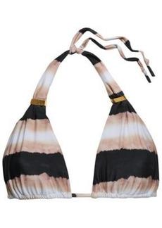 Vix Paula Hermanny Woman Striped Triangle Bikini Top Multicolor