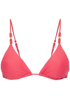 Vix Paula Hermanny Woman Trim Roll Triangle Bikini Top Papaya