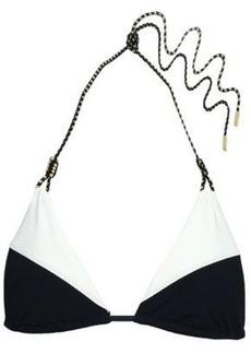 Vix Paula Hermanny Woman Two-tone Triangle Bikini Top Black