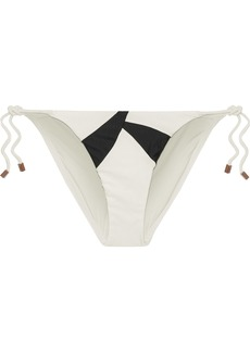 Vix Paula Hermanny Woman Wave Printed Low-rise Bikini Briefs Off-white