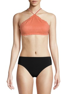 Vix Scales Halterneck Swim Top