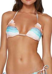 ViX Swimwear Alyssa Ripple Triangle Bikini Top