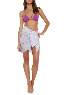 ViX Swimwear Amanda Stripe Cover-Up Pareo Skirt