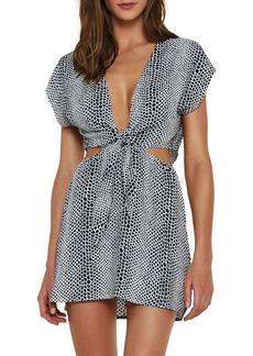 ViX Swimwear Amber Lizard Cutout Cover-Up Tunic Dress