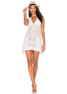 Vix Swimwear Cecile Lace Caftan in White. - size L (also in M,S)
