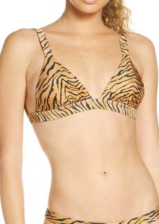ViX Swimwear Claire Tiger Print Triangle Bikini Top