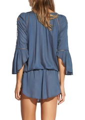 ViX Swimwear Embroidered Chemise Tunic Cover-Up
