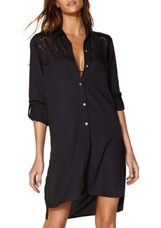 ViX Swimwear Embroidered Shirtdress Cover-Up