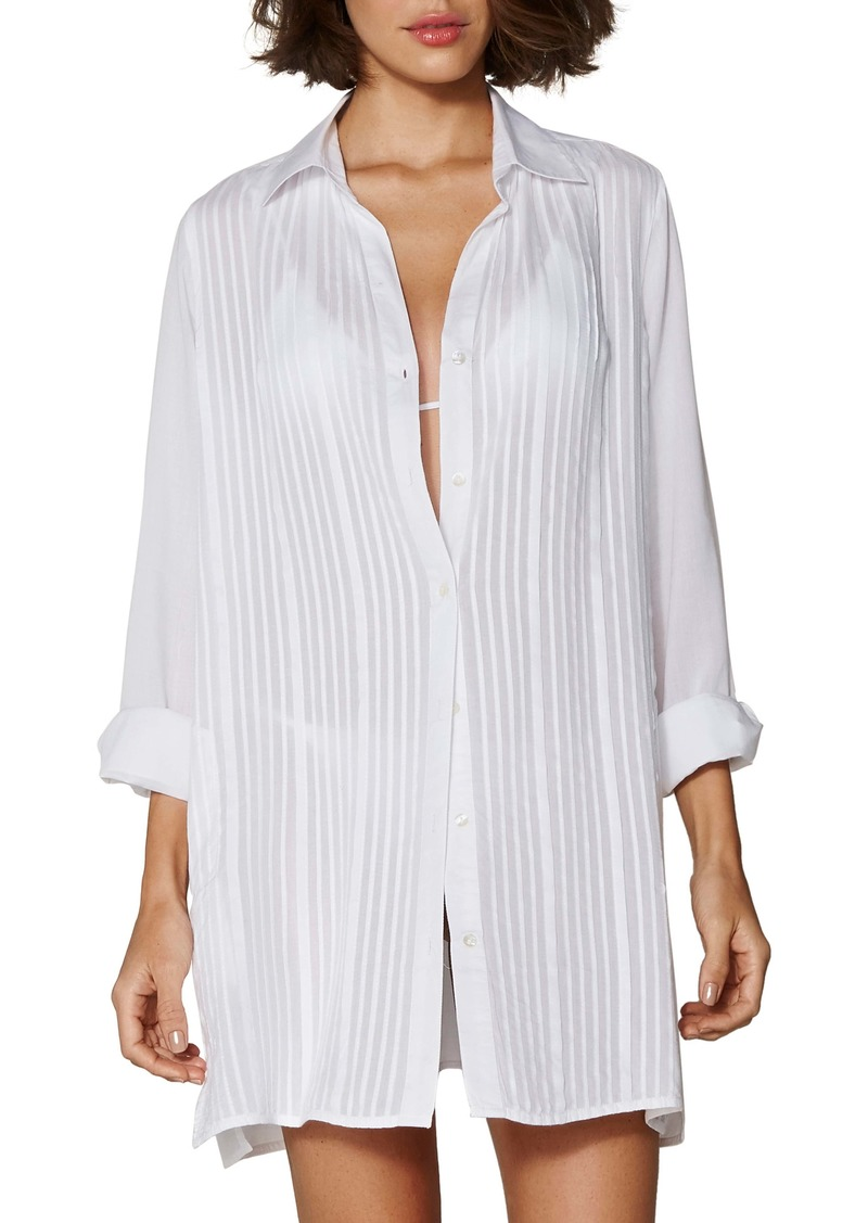 ViX Swimwear Jacque Cover-Up Shirtdress