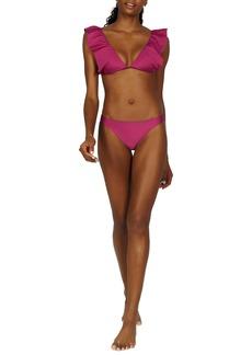 ViX Swimwear Jaipur Liz Flutter Sleeve Bikini Top