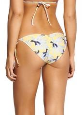 ViX Swimwear Lily Yellow Ripple Bikini Bottoms