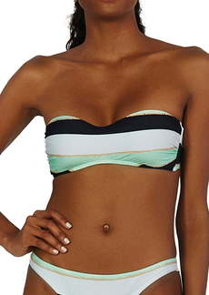 ViX Swimwear Malta Amy Stripe Bandeau Bikini Top