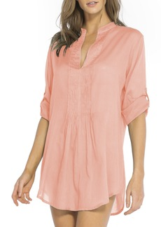ViX Swimwear Mini Pleat Cover-Up Caftan