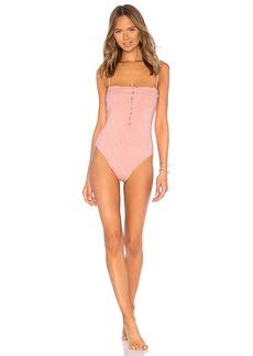Vix Swimwear Romance Scales Buttons One Piece