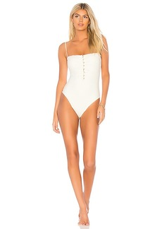 Vix Swimwear Scales Button One Piece